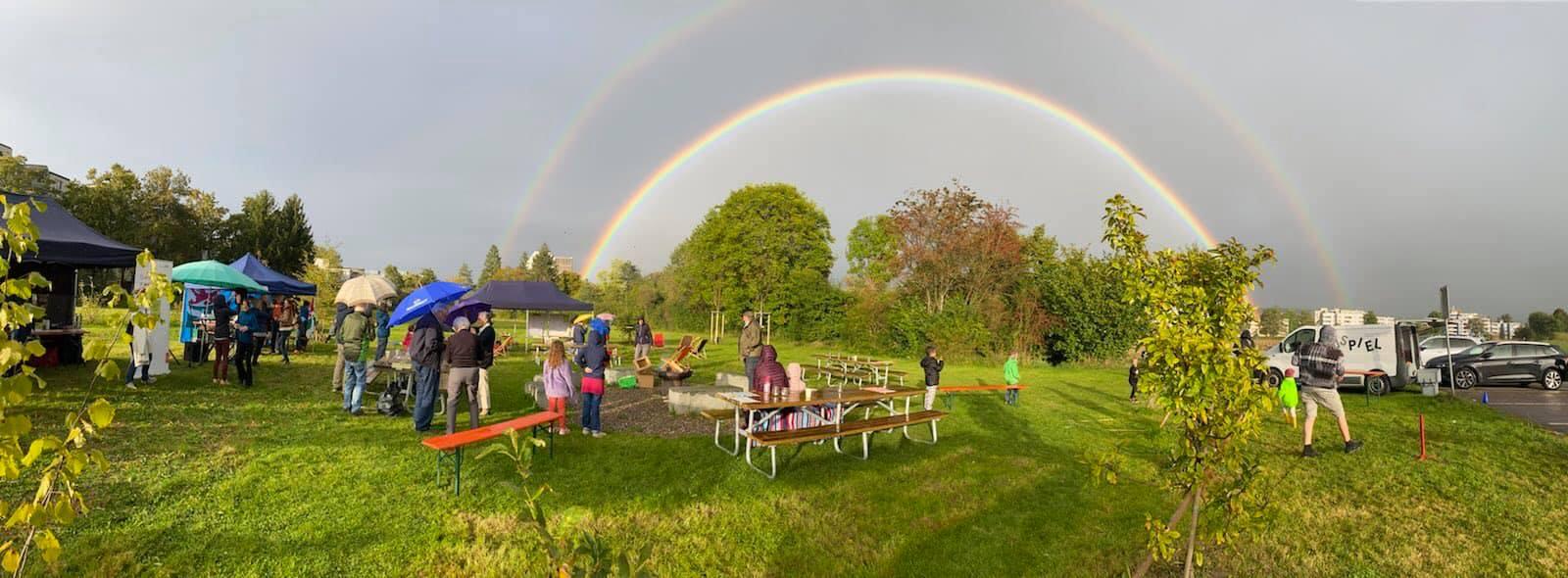 Regenbogen Grüzefeld Einweihung
